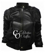 Vampire Diaries Elena Gilbert Black Leather Jacket