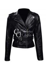 Sarah Connor Terminator: Genisys Black Leather Jacket