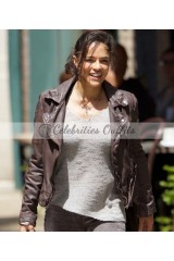 Fast And The Furious 8 Letty Ortiz Brown Leather Jacket
