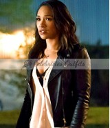 Candice Patton Flash Season 2 Iris West Black Jacket