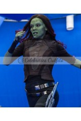 Gamora Guardians Of The Galaxy 2 Leather Vest Jacket