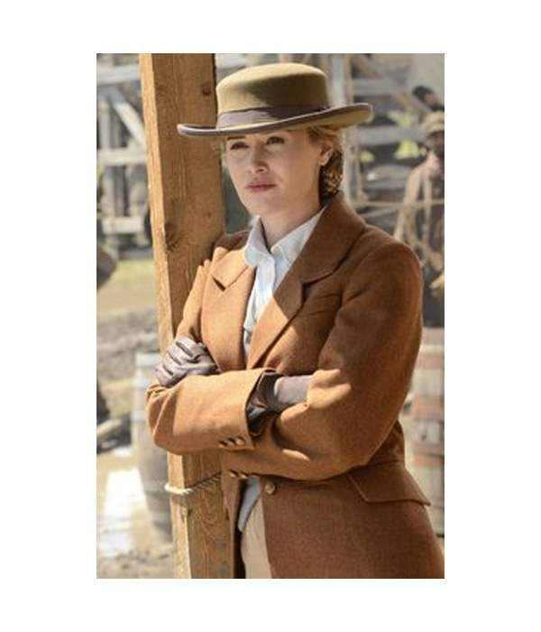 Dominique McElligott Hell on Wheels Lily Bell Coat Jacket