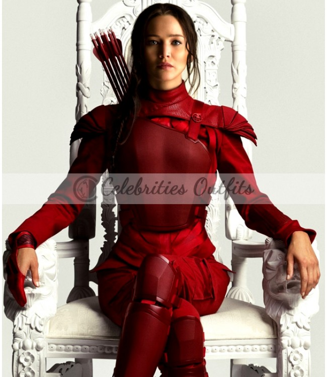 Jennifer Lawrence The Hunger Games Mockingjay Red Jacket