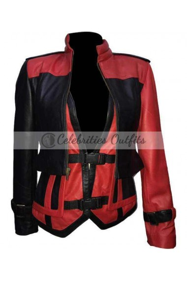Injustice 2 Harley Quinn Cosplay Leather Costume Jacket
