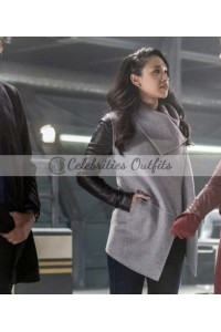 The Flash Season 3 Candice Patton Suede Jacket