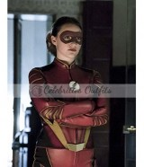 The Flash S3 Violett Beane Jesse Quick Leather Jacket