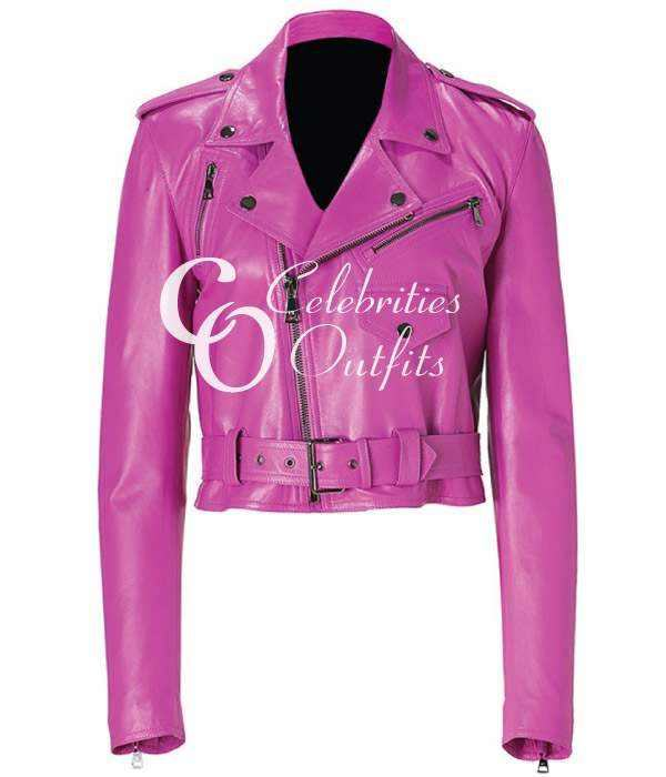 jessica-alba-pink-leather-jacket
