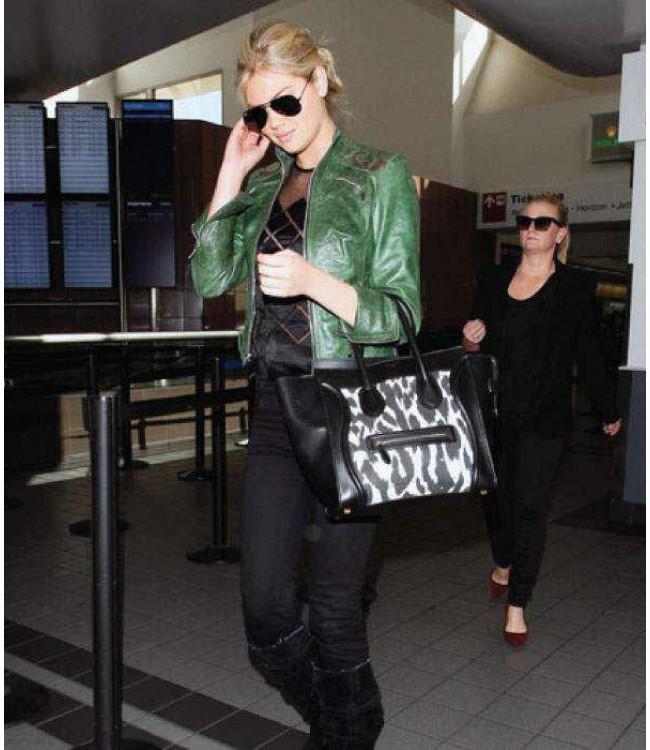 kate-upton-green-leather-jacket