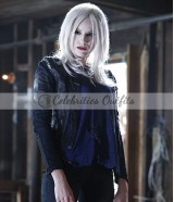 Brit Morgan Supergirl S1 Black leather Jacket