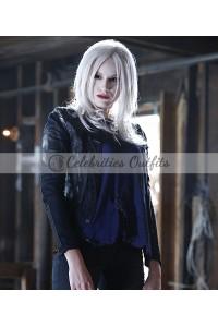 Brit Morgan Supergirl S1 Black leather Jacket