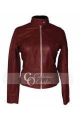 Teenage Mutant Ninja Turtle April O'Neil Red Leather Jacket