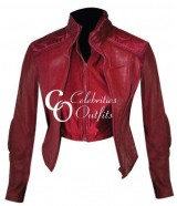 Ultraviolet Movie Milla Jovovich Red Leather Jacket