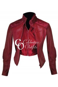 Ultraviolet Movie Milla Jovovich Red Leather Jacket