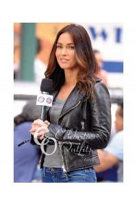 Megan Fox Black Jacket Teenage Mutant Ninja Turtle 2