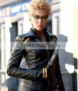 Black Canary Smallville Alaina Huffman Black Leather Jacket