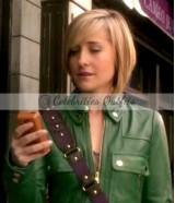 Allison Mack Smallville Chloe Sullivan Green Jacket