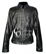 Katey Sagal Sons of Anarchy Black Leather Jacket