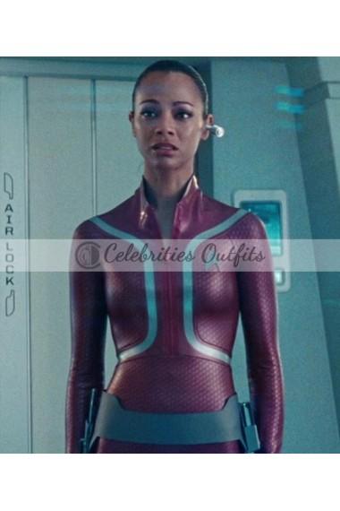 Zoe Saldana Star Trek into Darkness Uhura Leather Jacket
