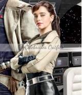 Qi'ra Solo A Star Wars Story Emilia Clarke Leather Jacket