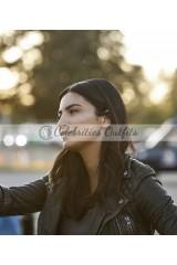 Floriana Lima Supergirl S2 Maggie Sawyer Black Leather Jacket