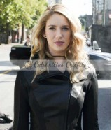Supergirl S3 Gayle Marsh Black Leather Jacket