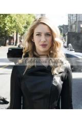 Supergirl S3 Gayle Marsh Black Leather Jacket