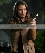 Bela Talbot Supernatural Lauren Cohan Brown Leather Jacket