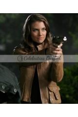Bela Talbot Supernatural Lauren Cohan Brown Leather Jacket