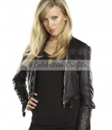 Ruby Supernatural Genevieve Cortese Black Leather Jacket