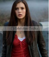 Nina Dobrev The Vampire Diaries TV Series Leather Jacket