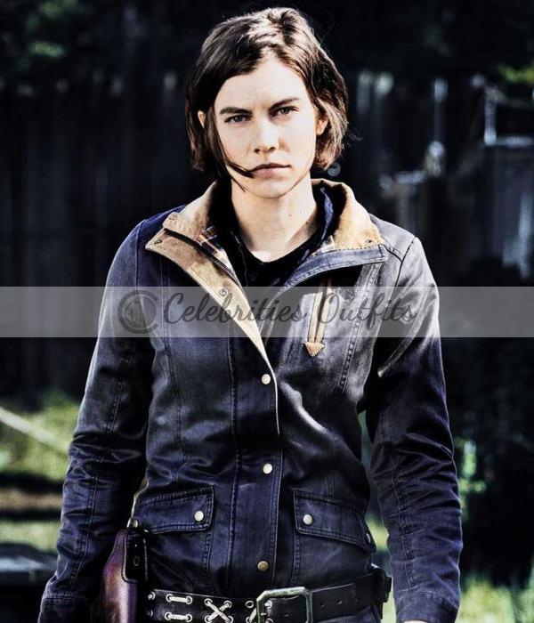 The Walking Dead S8 Lauren Cohan Maggie Greene Leather Jacket