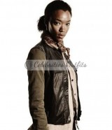 Sasha Williams The Walking Dead Leather Vest Jacket
