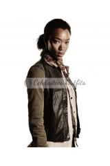 Sasha Williams The Walking Dead Leather Vest Jacket