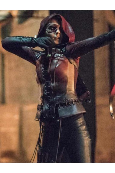 Arrow Willa Holland Thea Queen Hoodie Jacket
