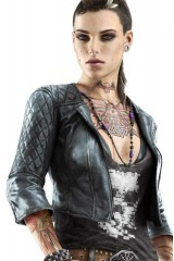 Clara Lille Watch Dogs Black Anime Leather Jacket