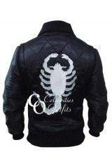 Drive Scorpion Ladies Style Black Satin Jacket