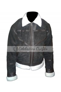 Power 50 Cent Kanan Brown Fur Suede Leather Jacket