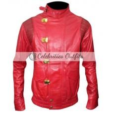 Akira Kaneda Pill Red Cosplay Motorcycle Leather Jacket