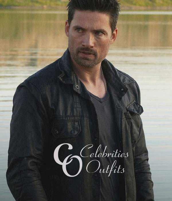 Warren Christie Alphas TV Series Black Leather Jacket