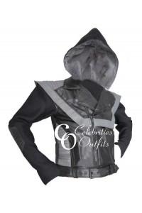 VMA MTV Awards 2010 Usher Hoodie Leather Jacket