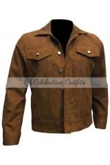Logan Wolverine 3 Hugh Jackman Suede jacket