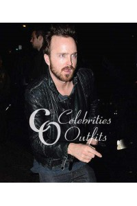 Arcade Fire Concert Aaron Paul Black Quilted Leather Jacket
