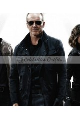 Phil Coulson Agents of SHIELD S3 Clark Gregg Black Jacket