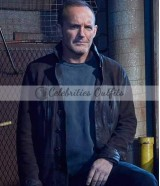 Clark Gregg Agents of Shield S3 Phil Coulson Suede Jacket