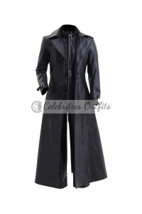 Resident Evil 5 Albert Wesker Black Costume Trench Coat