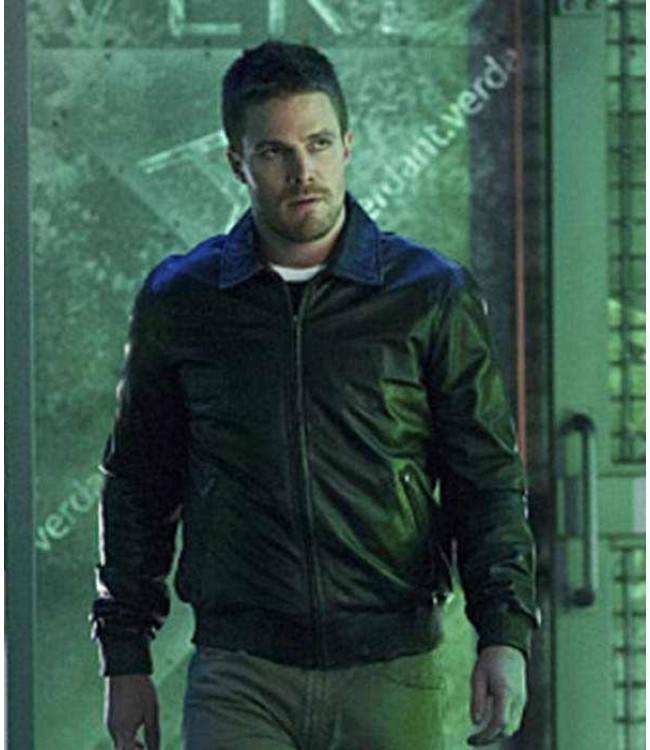 7f4e3f712 Stephen Amell Oliver Queen Arrow Season 3 Jacket
