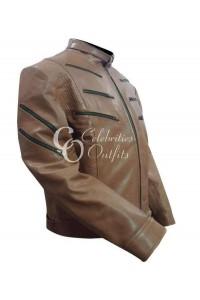 Michael Jai White Arrow Season 2 Brown Leather Jacket