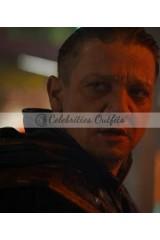 Hawkeye Avengers 4 Endgame Clint Barton Leather Hoodie Jacket