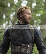 Avengers Infinity War Captain America Chris Evans Leather Jacket