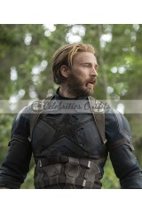 Avengers Infinity War Captain America Chris Evans Leather Jacket